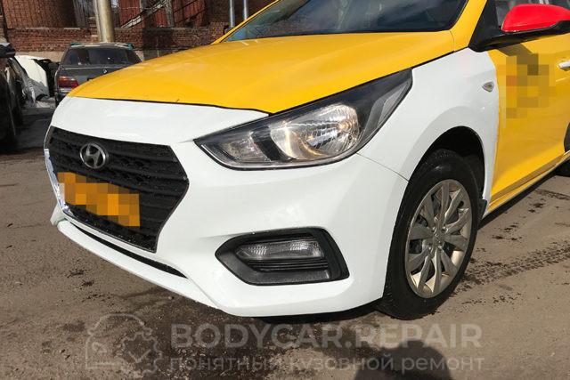 Замена бампера и крыла на Hyundai Solaris