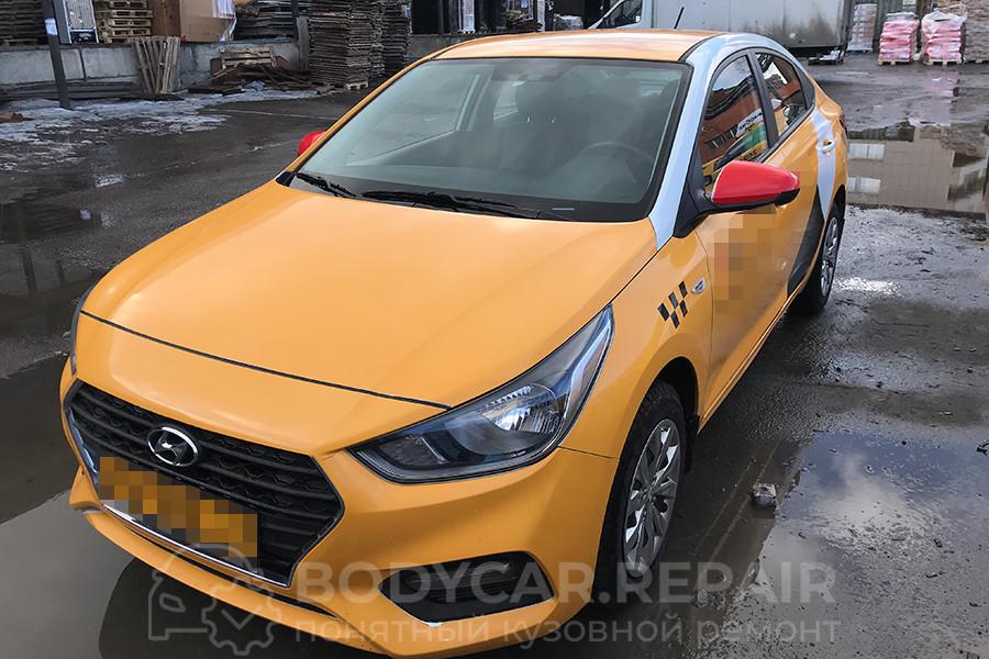Ремонт стойки лобового стекла Hyundai Solaris