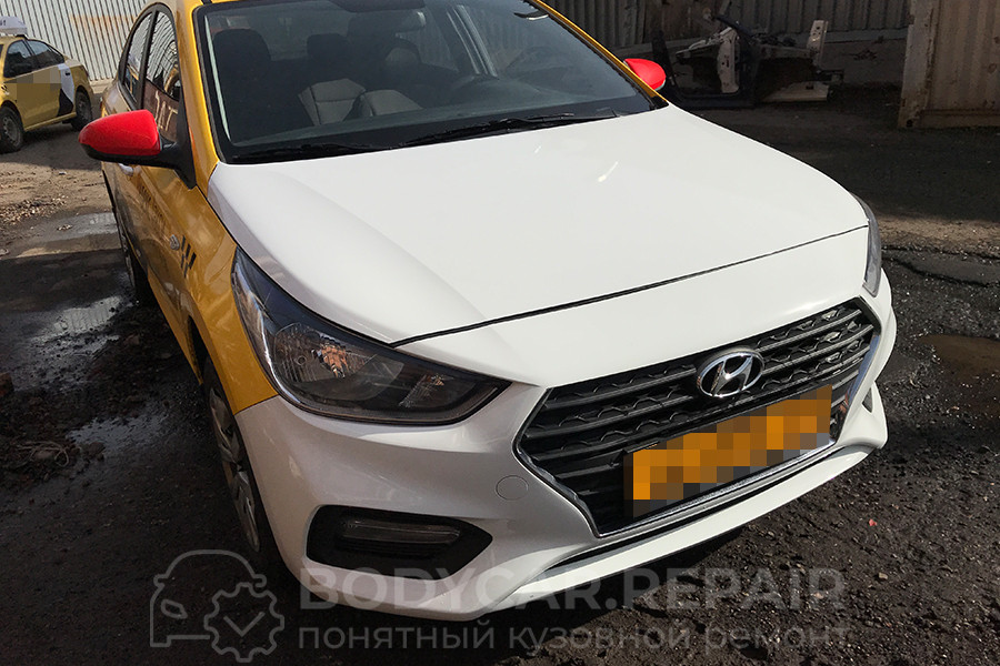 Ремонт кузова Hyundai Solaris после ДТП