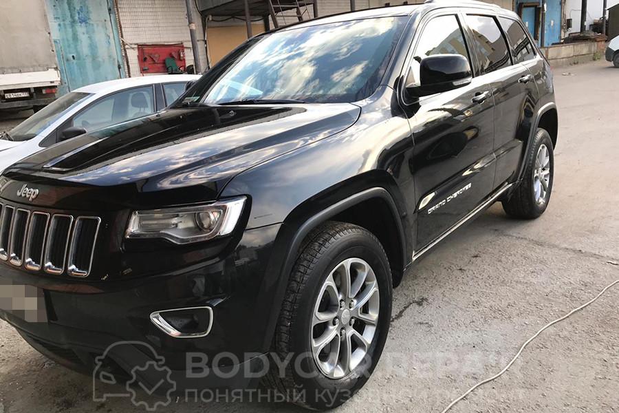 Полировка двери Jeep Grand Cherokee
