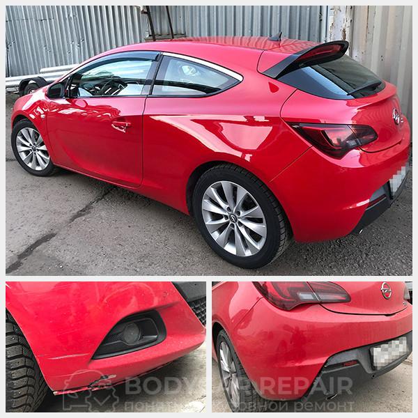 Ремонт и покраска бампера Opel Astra J