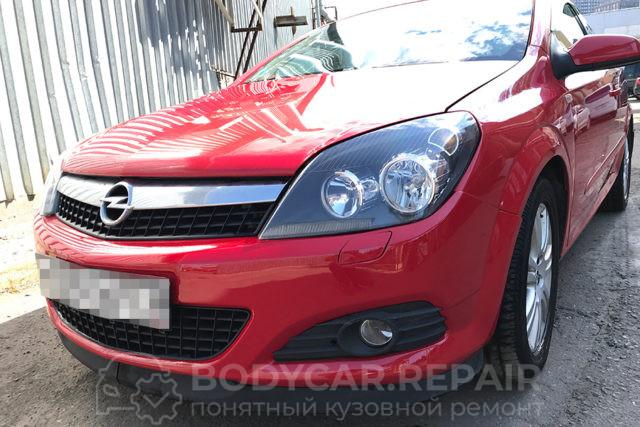 Покраска переднего бампера на Opel Astra