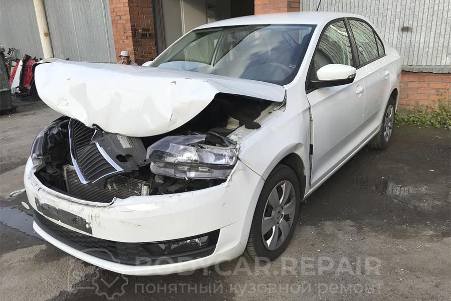 Ремонт кузова Skoda Rapid после аварии