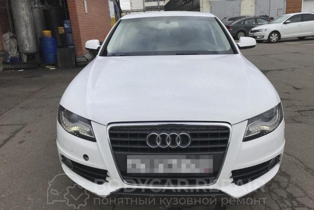 Ремонт деталей Audi с полировкой кузова