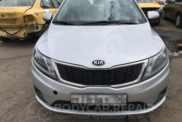 Ремонт кузова Kia Rio с заменой и восстановлением деталей