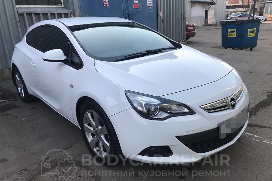 Ремонт порога и заднего бампера Opel Astra