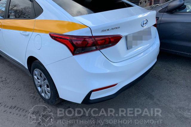 Замена, ремонт и покраска деталей кузова Hyundai Solaris